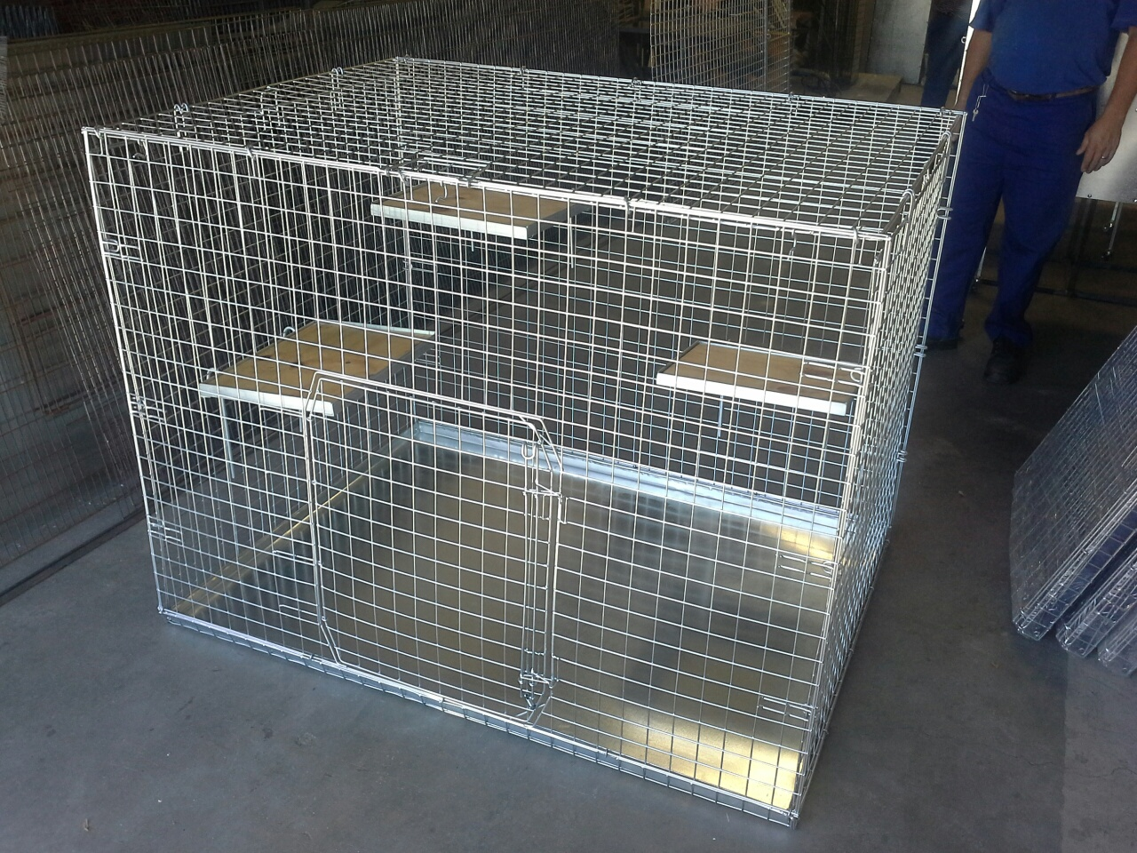 Super Jumbo Fold Up Cat Cage Crate 50 215 50 Mesh With Tray