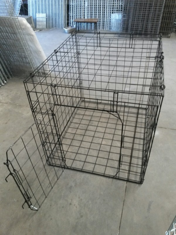 Xlarge Fold Up Crate Powder Coated In Silver Vein Dogs